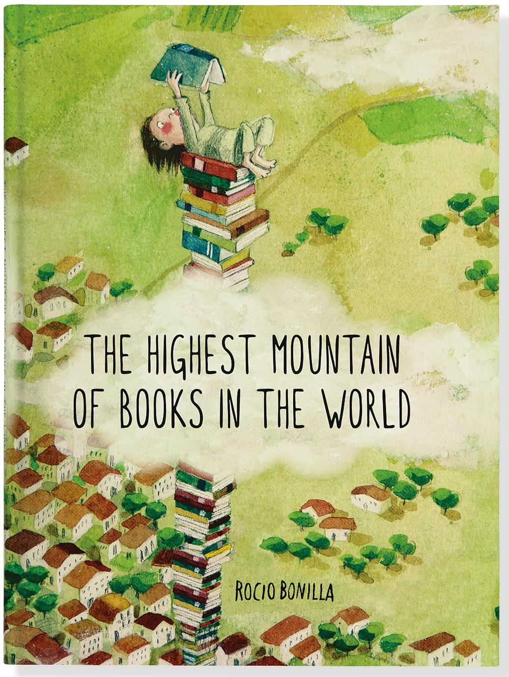 highest mountain of books